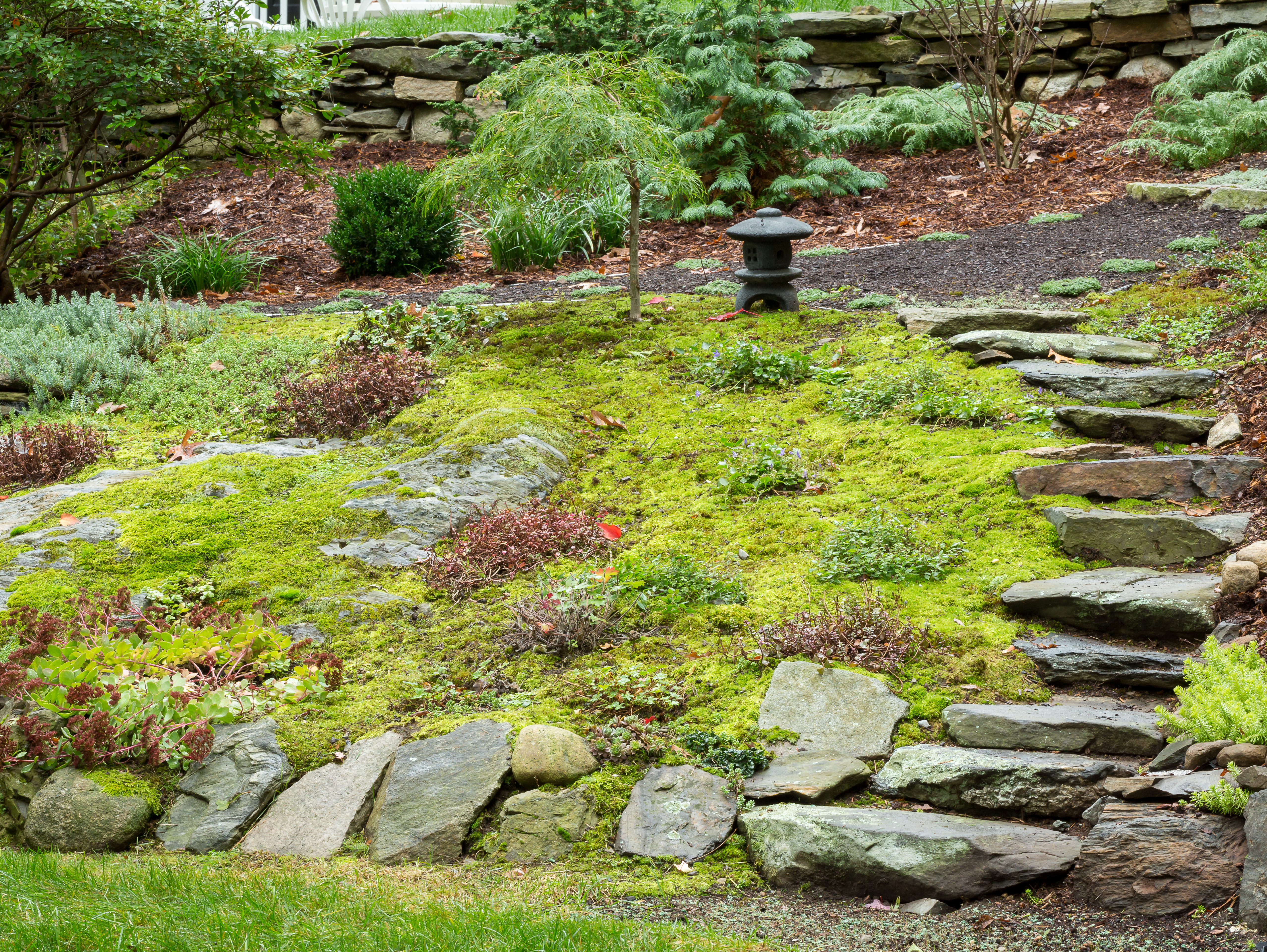 Landscaping on steep slopes
