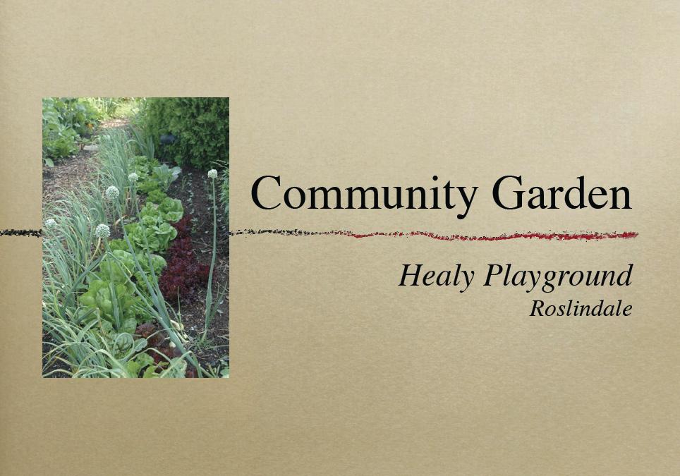 Roslindale Community Garden with COGdesign